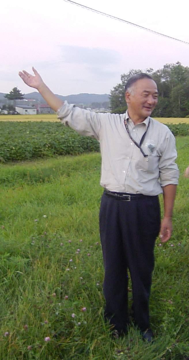 秋場さん畑にて